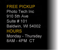 PHOTO TECH INC. 910 5TH AVE, SUITE 101, BALDWIN, WI 54002