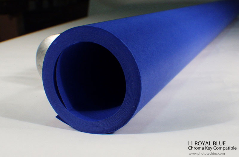 11 ROYAL BLUE Seamless PAPER Chroma Key Compatible